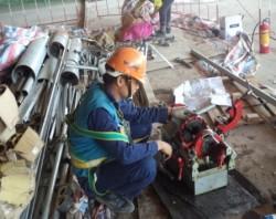 Thi công công trình nhà ga T2_ Nội Bài